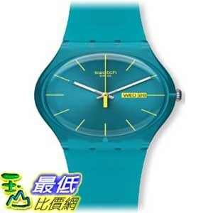 [美國直購 ShopUSA] Swatch 手錶 Men's SUOL700 Quartz Turquoise Dial Measures Seconds Plastic Watch $2425
