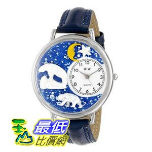 [美國直購 ShopUSA] Whimsical 手錶 Watches Unisex U0150002 Polar Bear Navy Blue Leather Watch $1869