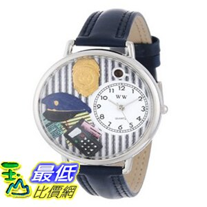 [美國直購 ShopUSA] Whimsical 手錶 Watches Unisex U0610016 Police Officer Navy Blue Leather Watch $1898
