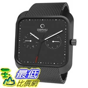 [美國直購 ShopUSA] Obaku 手錶 Men's V145UBBMB Black Stainless-Steel Quartz Watch with Black Dial $3295