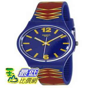 [美國直購 ShopUSA] Swatch 手錶 Men's Ethnic GN235 Multicolor Rubber Swiss Quartz Watch with Blue Dial $3193