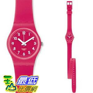 [美國直購 ShopUSA] Swatch 手錶 Women's Originals LR123 Pink Rubber Swiss Quartz Watch with Pink Dial $2089