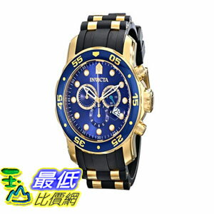 [104美國直購] 手錶  Invicta Men's 17882 Pro Diver Analog Display Swiss Quartz Black Watch