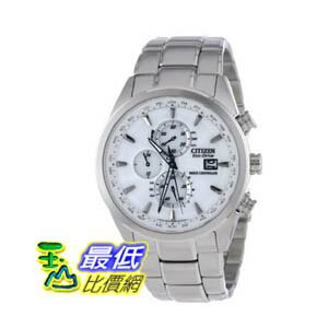 [美國直購 ShopUSA] Citizen Eco-Drive 手錶 World Chronograph A-T White Dial Stainless Steel Mens Watch AT8010-58B $11473