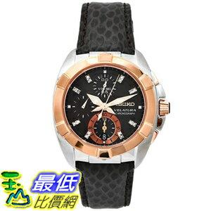 [美國直購 USAShop] Seiko 手錶 Women's Velatura SNDZ20 Black Leather Quartz Watch with Black Dial $18180