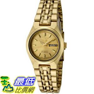 [美國直購 USAShop] Seiko 手錶 Women's 5 Automatic SYMA04K Gold Gold Tone Stainles-Steel Automatic Watch with Gold Dial $4980