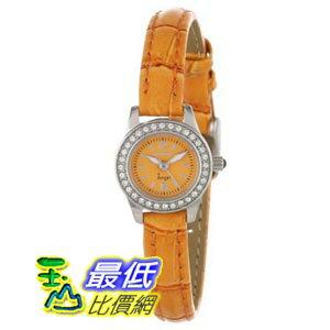 [美國直購 ShopUSA] Invicta Angel Orange Dial Orange Synethetic Leather Ladies Watch 13658