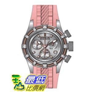 [美國直購 ShopUSA] Invicta Bolt Chronograph Silver-tone Dial Stainless Steel Pink Polyurethane Band 女士手錶 14778