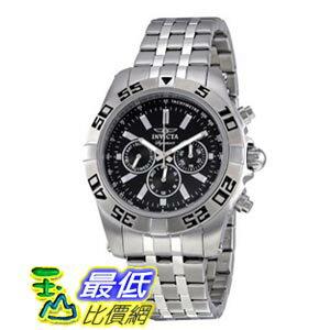 [美國直購 ShopUSA] Invicta Signature II Black Dial Chronograph Stainless Steel Mens Watch 7301