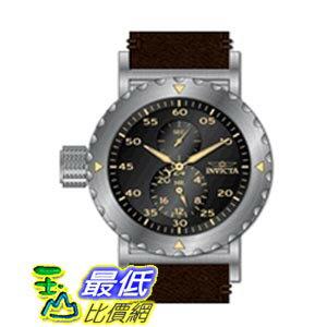 [美國直購 ShopUSA] Invicta I-Force Black Dial Brown Leather 男士手錶 14636