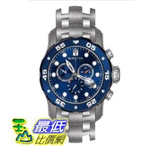 [美國直購 ShopUSA] Invicta Pro Diver Chronograph Blue Dial Stainless Steel 男士手錶 80057