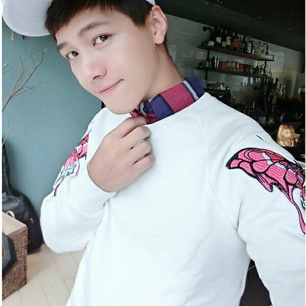 ◆快速出貨◆刷毛T恤 圓領刷毛 情侶T恤 暖暖刷毛 MIT台灣製.雙袖蝴蝶【YS0439】可單買.艾咪E舖 2
