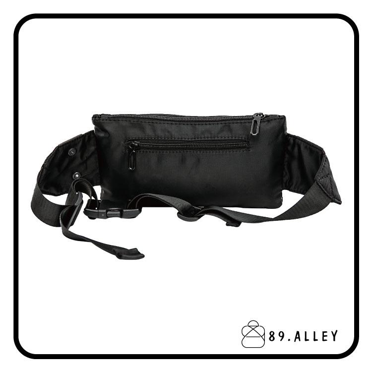 腰包 單肩包 女包男包 黑色系防水包 輕量尼龍雙層情侶斜背包 89.Alley 3