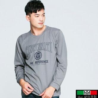 排汗衫-【MIT台灣製】英式盾牌USA英字排汗衫 休閒長袖T恤 包飾衣院 T1027 現貨+預購