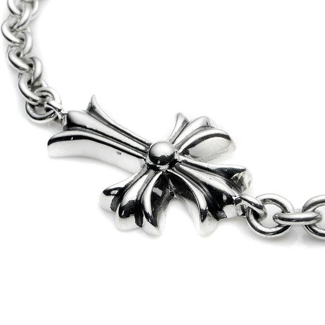【海外訂購】【Chrome Hearts】十字架純銀手鍊 18cm(CHB-070-7 064522O800) 3