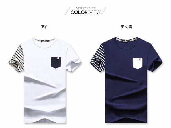 ☆BOY-2☆【OE50205】韓版休閒條紋短袖T桖 1