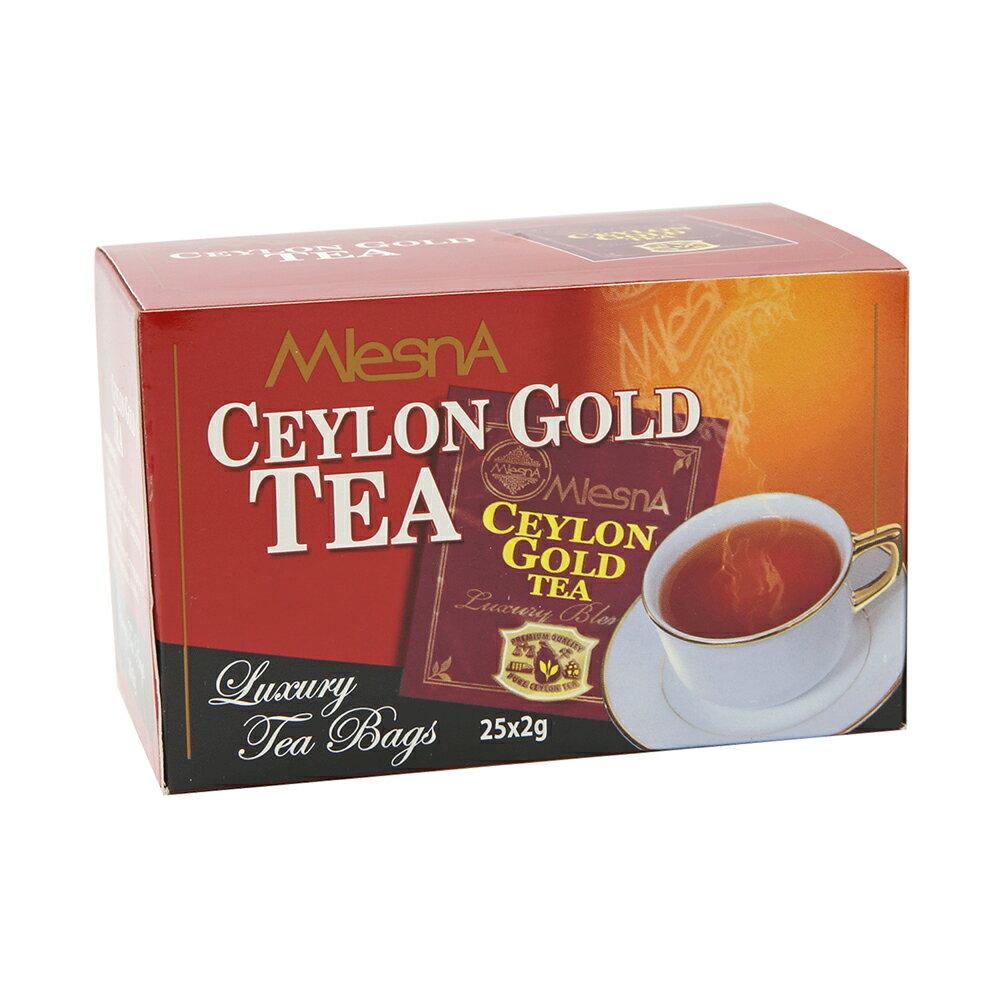 曼斯納 MlesnA - CEYLON GOLD 錫蘭金 純紅茶平面茶包 (25入/盒) 錫蘭紅茶/茶包/茶葉