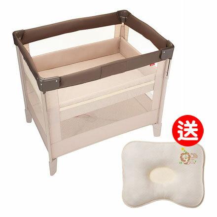 【悅兒樂婦幼用品?】Aprica 愛普力卡 嬰兒床 COCONEL Air 任意床-拿鐵棕【送辛巴 有機棉專利透氣枕】
