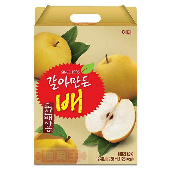 糖果王:韓國海太HAITAI水梨汁12入禮盒裝