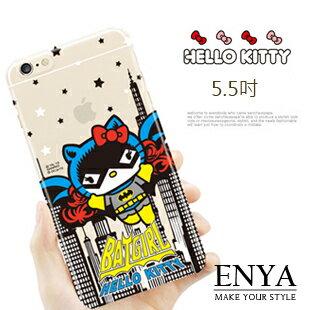 iPhone6+/6S+ Plus 5.5吋 日本三麗鷗(郵局免運) HelloKitty 蝙蝠俠限量款 手機透明硬殼 Enya恩雅