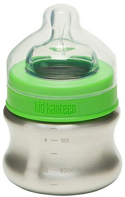 【鄉野情戶外專業】 Klean Kanteen |美國| Stainless Steel Baby Bottles 不鏽鋼奶瓶(低速奶嘴)148ml K05BABY