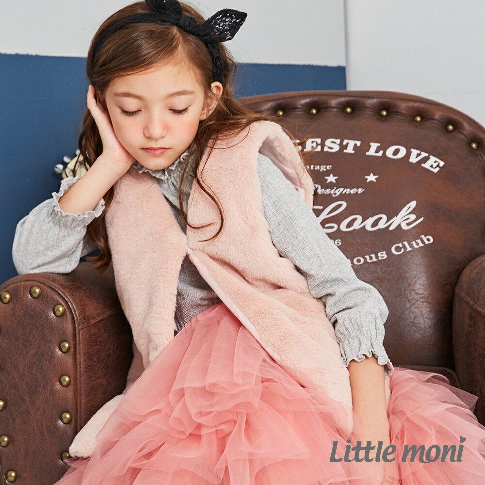 Little moni 荷葉高領上衣-麻花灰(好窩生活節) 1