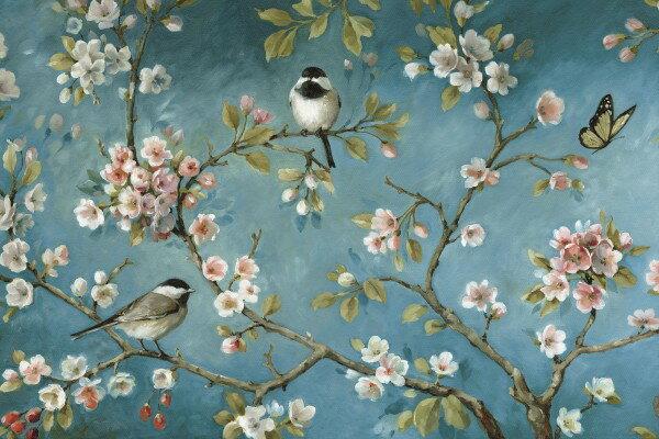 花鳥風景畫壁畫訂製客製壁畫e23327