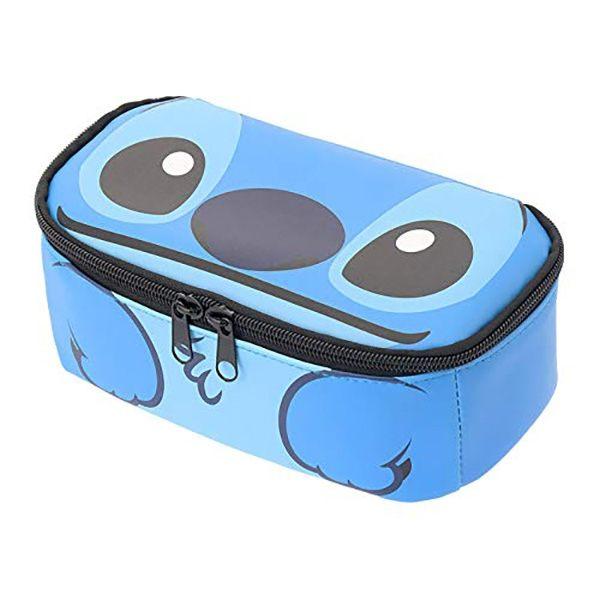 【史迪奇化妝包】迪士尼 史迪奇 皮革 化妝包 鉛筆袋 大容量 正品 該該貝比  ☆