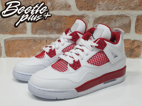女鞋 BEETLE NIKE AIR JORDAN 4 RETRO ALTERNATE 89 白紅 408452-106 1