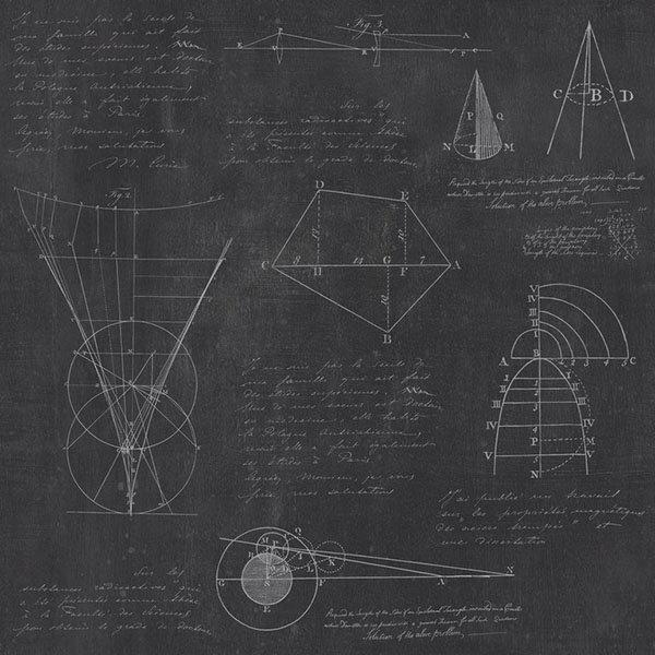 Mind the Gap / Newton Geometry Anthracite WP20046 壁紙「訂貨單位156cm x 3m/套(1套3張壁板)」計算式 公式 黑板風
