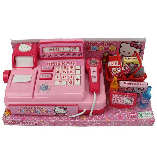 Hello Kitty 凱蒂貓 收銀機 A435KT電動收銀機(附電池)/一組入{促399} 扮家家酒玩具~正版授權~