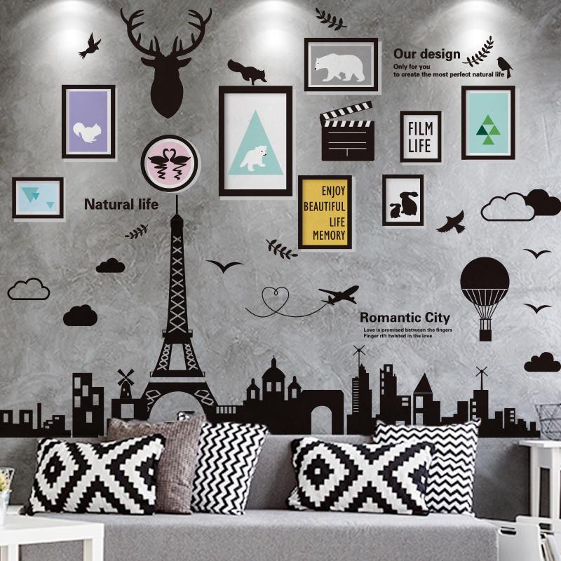 3D立體墻貼紙貼畫臥室房間布置宿舍大學生海報墻壁紙裝飾品自粘1入