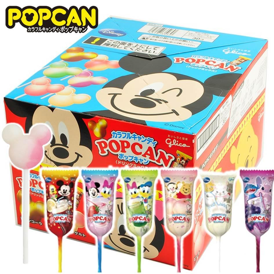 【Glico固力果】Disney迪士尼綜合飲料棒棒糖 米奇造型汽水棒棒糖 12g/單支 30支/整盒 日本進口糖果