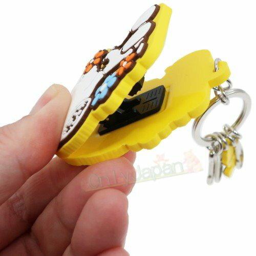 史努比snoopy 鑰匙圈 吊飾 包包配件 療育小物 女生配件 4544815045666 矽膠造型夾式伸縮鑰匙圈-SN小花 真愛日本