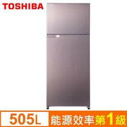 TOSHIBA東芝 505公升變頻電冰箱GR-H55TBZ(N)優雅金