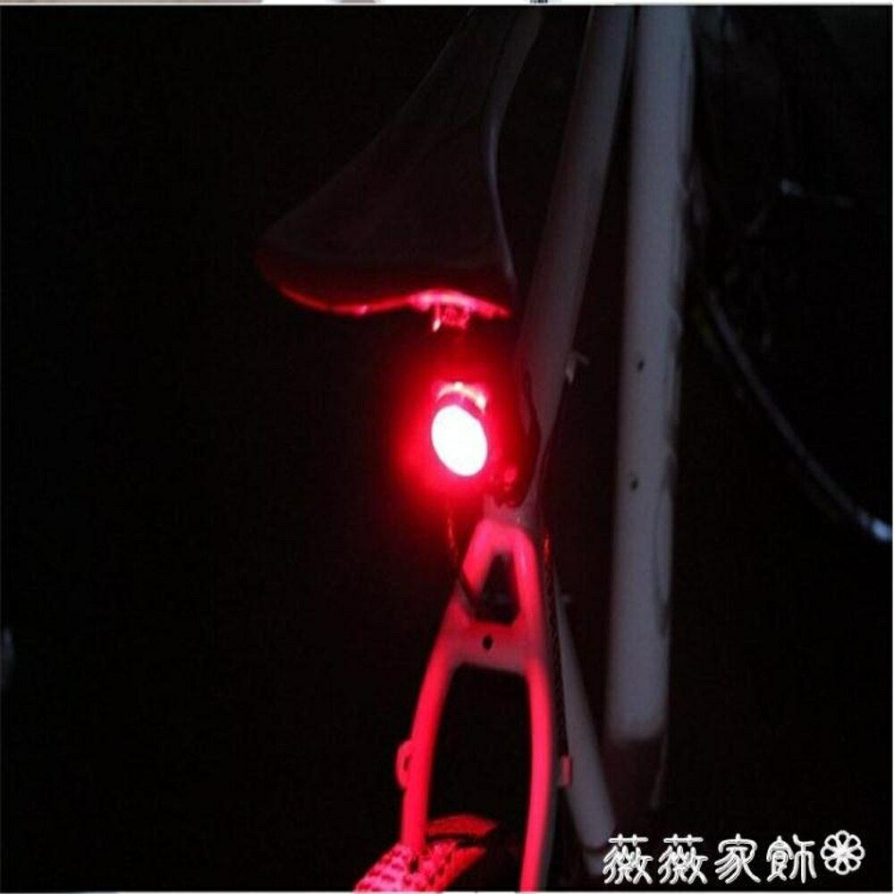 單車尾燈 公路自行車後尾燈 USB充電警示燈LED迷你超亮山地車前燈 薇薇家飾