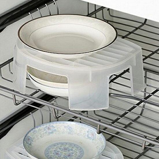 ♚MY COLOR♚透明分層置物架 微波爐 雙層 支架 隔熱 托盤 碗碟 餐具 加熱 廚房 透明【R58-1】