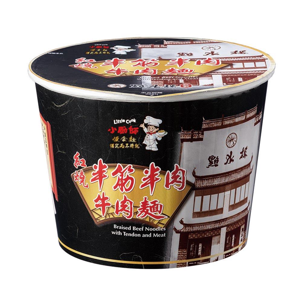 【小廚師慢食麵】紅燒半筋半肉牛肉麵 (269g/桶)泡麵 即食 宵夜必備 調理包 料理包