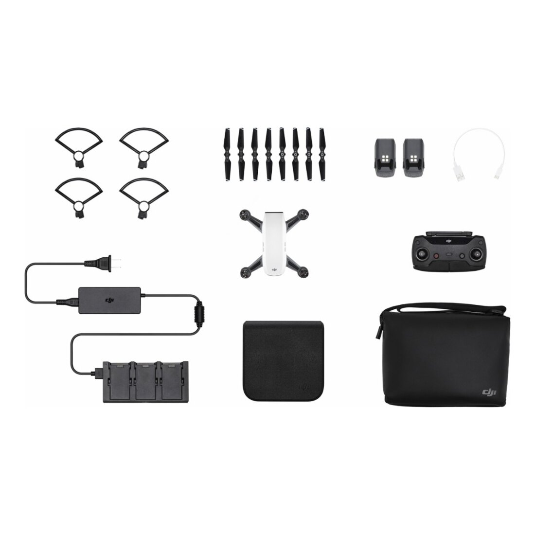 DJI Spark Mini Quadcopter Fly More Combo RC Drone with HD Camera - Alpine White 6