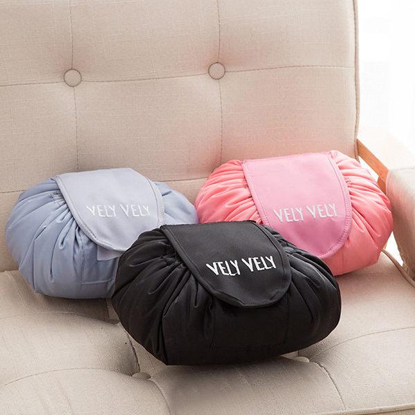 PS Mall vely vely懶人化妝包大容量便攜抽繩收納收納包【J891】 - 限時優惠好康折扣