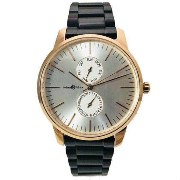 MaxMaxMAS7022-1時尚流行鋼帶腕錶-鋼40mm