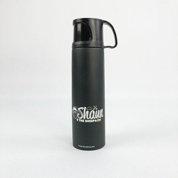 【笑笑羊】杯蓋保溫瓶-04(黑)