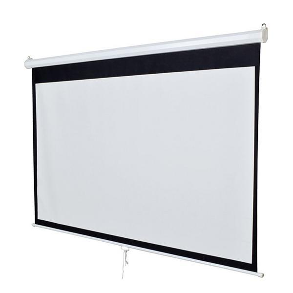"119 Projector Projection Screen Manual Pull Down Screen Home Theater Movie 84 X 84"" 4"