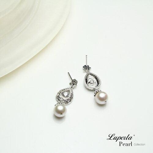 大東山珠寶 星芒 日本AKOYA天然海水珍珠純銀晶鑽耳環 4