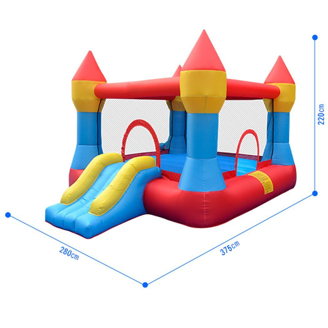 Kids Bounce House Jumper Castle Inflatable Bouncer Without Blower 2