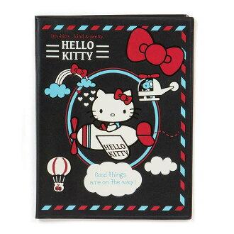 【真愛日本】16061500020多功能證件套-KT飛機黑  三麗鷗 Hello Kitty 凱蒂貓 卡片套 萬用套 正品