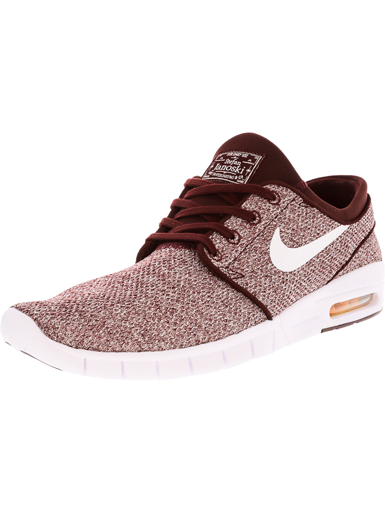 81cb6520cbe Nike Men s Stefan Janoski Max Dark Team Red   White Ankle-High Running Shoe  0