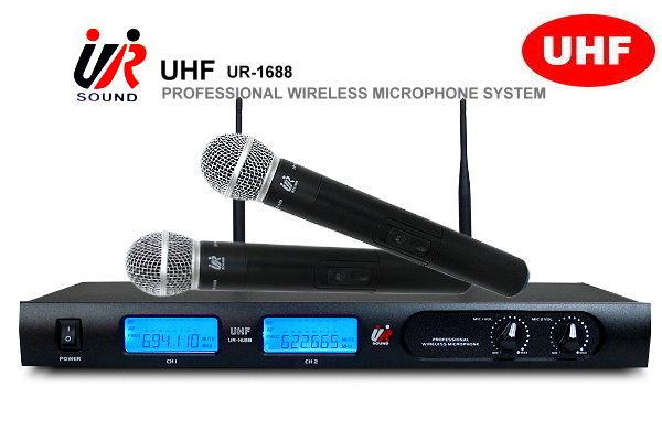 Promic/UR 超高頻UHF無線麥克風UR~1688,具平衡與非平衡輸出/LCD顯示