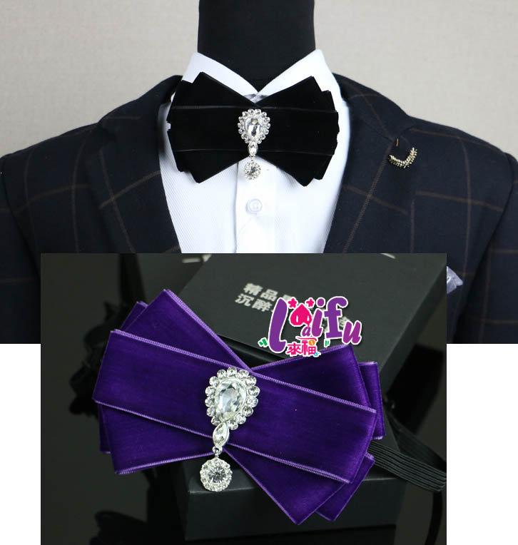 來福,k700領結浪漫有鑽蝴蝶結胸花結婚新郎領結表演糾糾,售價350元