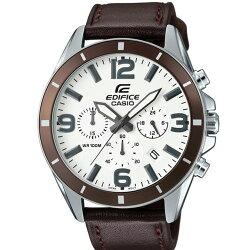 CASIO EDIFICE延續經典時尚錶/咖啡/EFR-553L-7BVUDF